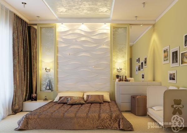 3d стеновые панели в интерьере фото