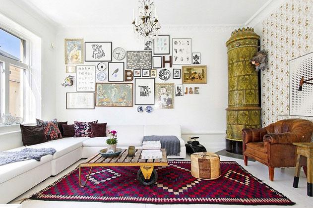 дизайн интерьера белой гостиной