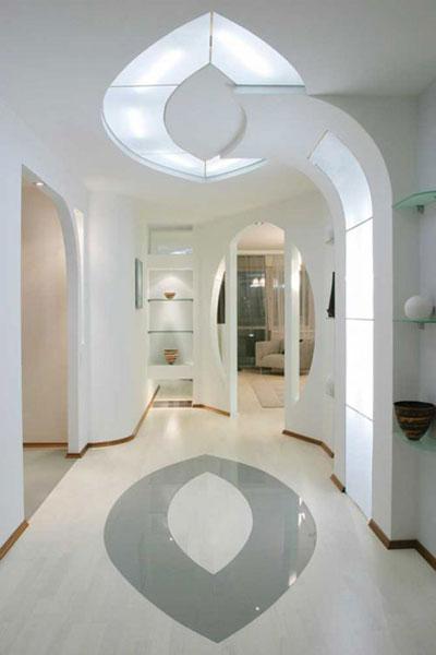 прихожая в белом цвете, дизайн интерьера