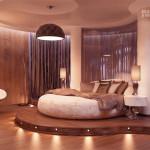 Планируем дизайн спальни с круглой кроватью. Как сочетать оригинальность и удобство.