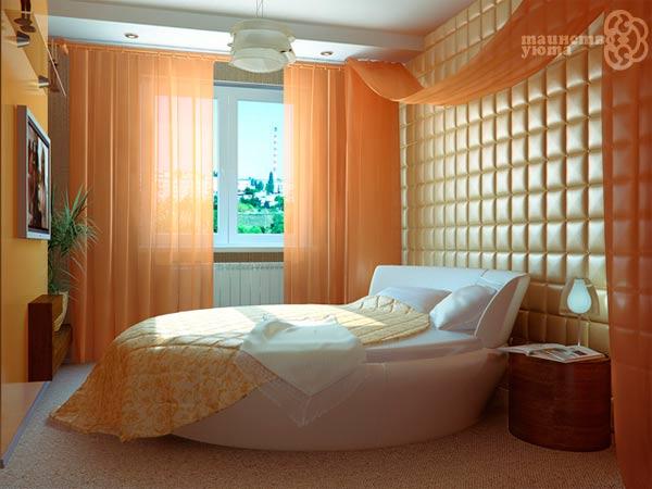 фото кругдой кровати в дизайне