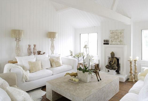 дизайн интерьера в белом цвете эклектика