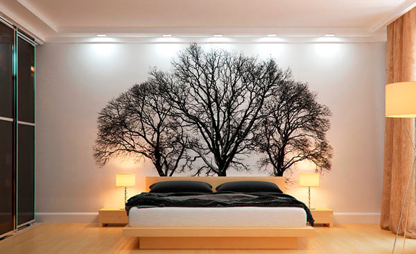 дизайн спальни фотобои
