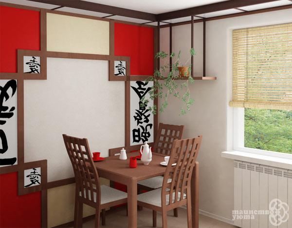 Японский минимализм в дизайне кухни фото