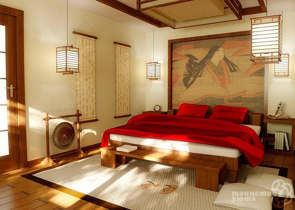 спальня в японском стиле фото