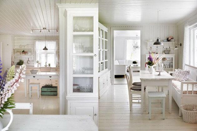 прованс, дизайн интерьера в белом цвете