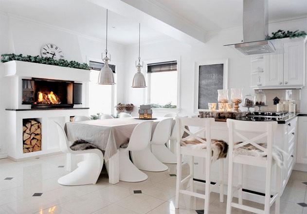 скандинавский стиль дизайн интерьера в белом цвете