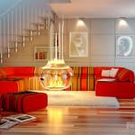Дизайн интерьера с камином – хранитель домашнего уюта