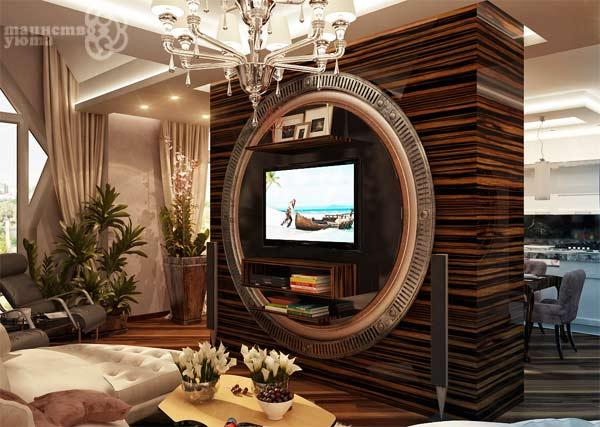 дизайн тв зоны в гостиной фото