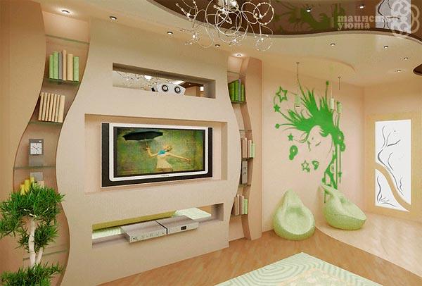 Стены из гипсокартона своими руками фото дизайн