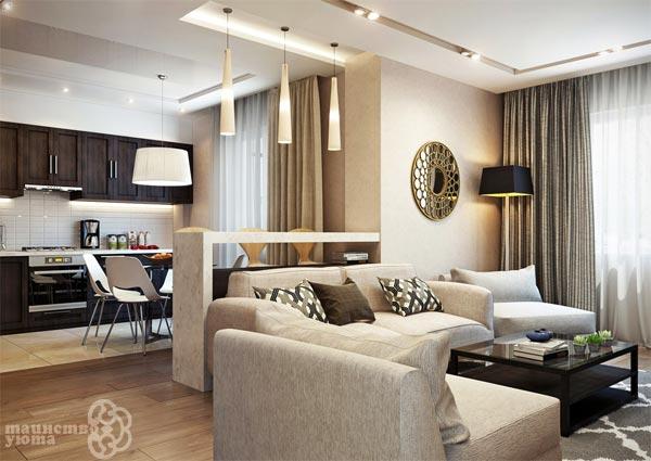 Оригинальные варианты зонирования комнаты
