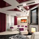 Дизайн комнаты с натяжным потолком – практичное решение стандартных проблем