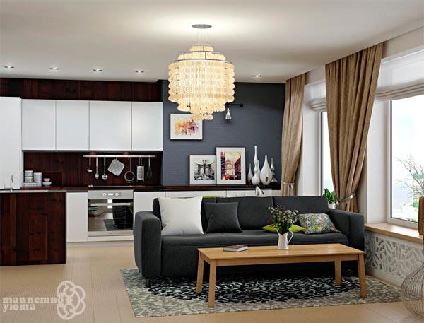 сочетание черного и белого в дизайне интерьера
