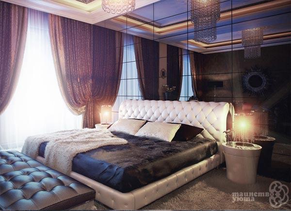 оригинальная черно белая спальня фото