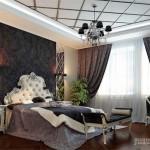 Черно белый дизайн интерьера, стильное окружение для смелых людей