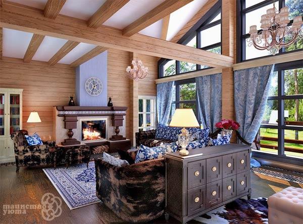дизайн дома в стиле кантри фото