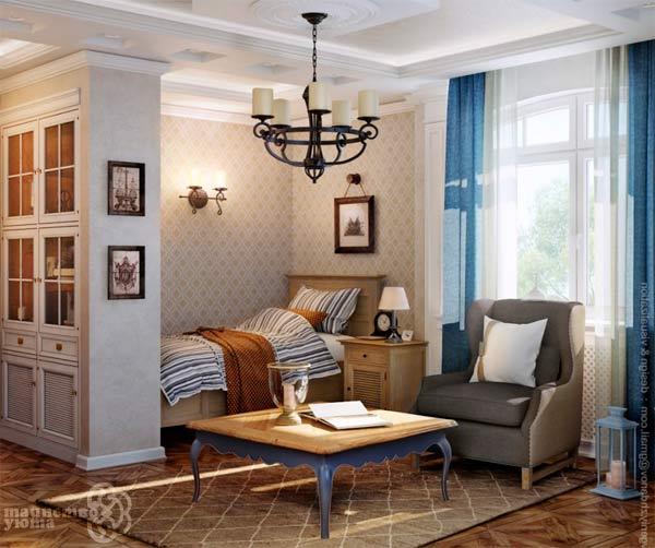 Дизайн комнаты в стиле кантри
