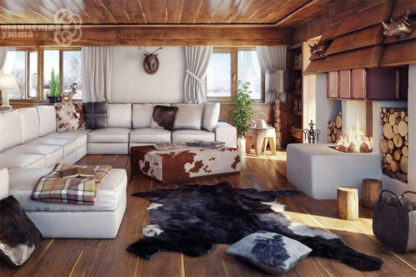 Дизайн интерьера в стиле кантри фото