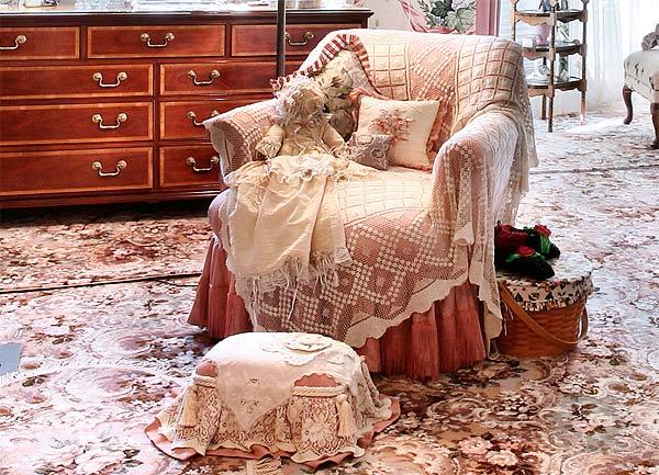 Текстиль в стиле кантри фото
