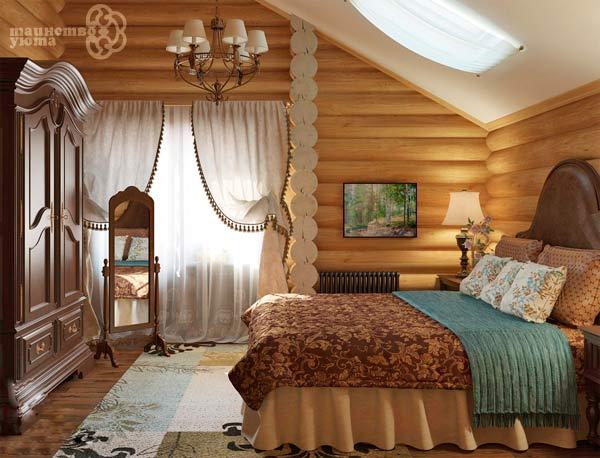 Дизайн спальни в стиле кантри фото