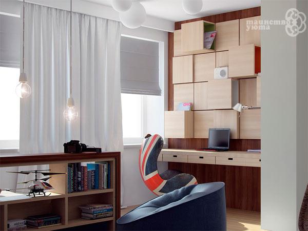 навесные полки в эргономике рабочего места в квартире
