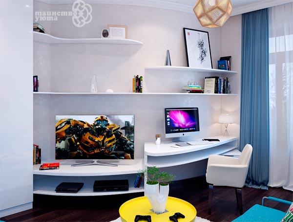 пластиковые столы для дизайна рабочего места в квартире