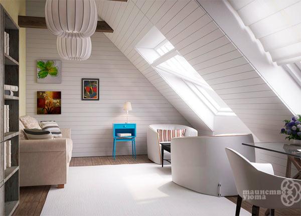 идеи дизайна мансардного пространства