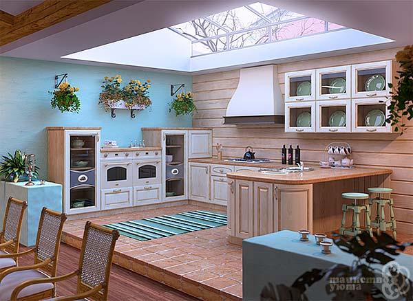 дизайн кухни в мансарде фото