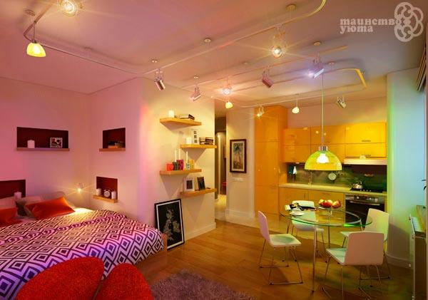 функциональные зоны квартиры студии фото