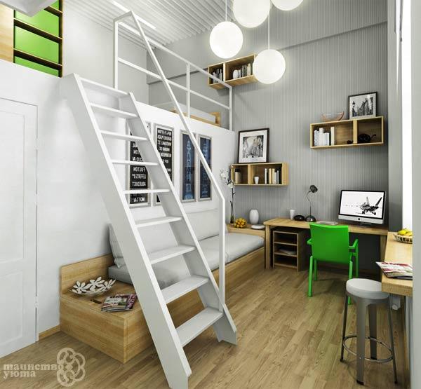 мебель в дизайне квартиры студии фото