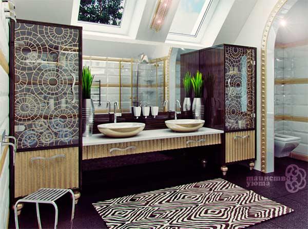креативные умывальники в дизайне ванной комнаты фото