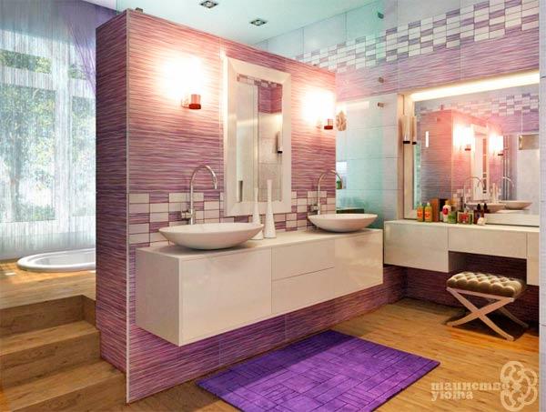 дизайн ванной пример оформления интерьера