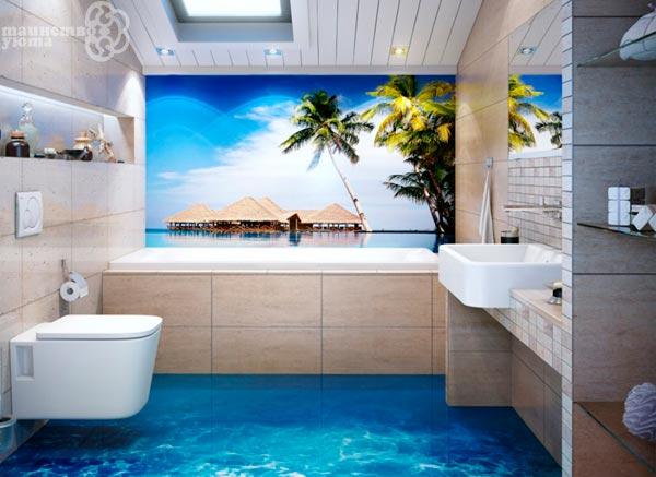 ванная комната в морском стиле пример