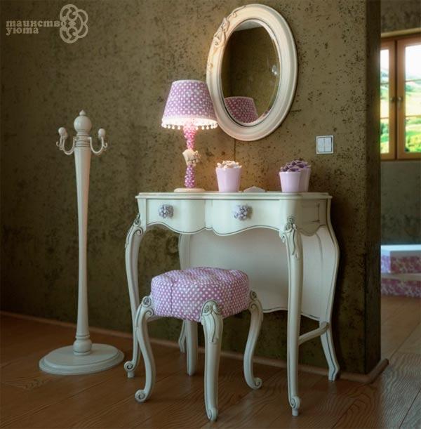 туалетный столик в интерьере детской фото