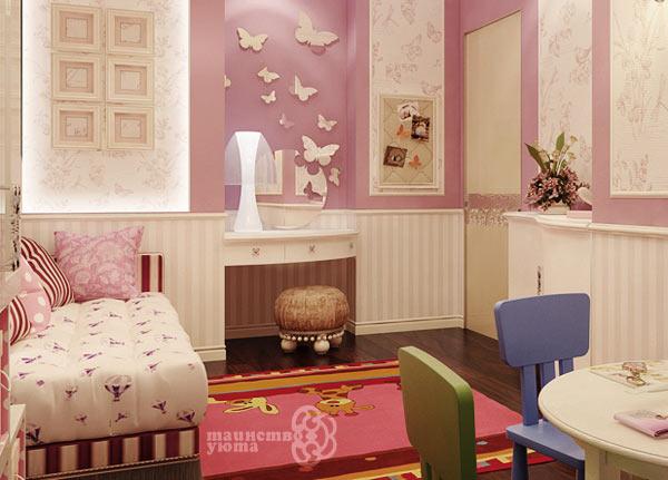 Туалетный столик в интерьре детской