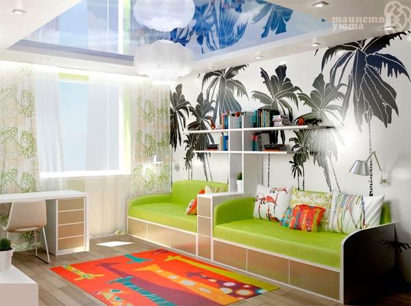виниловые наклейки в дизайне детской комнаты
