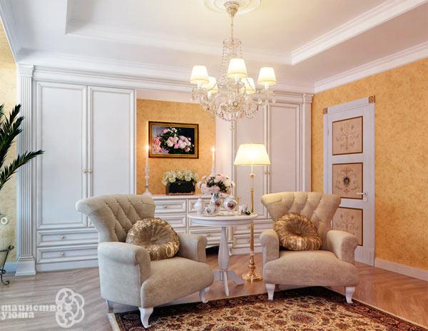оформление потолка в классическом стиле