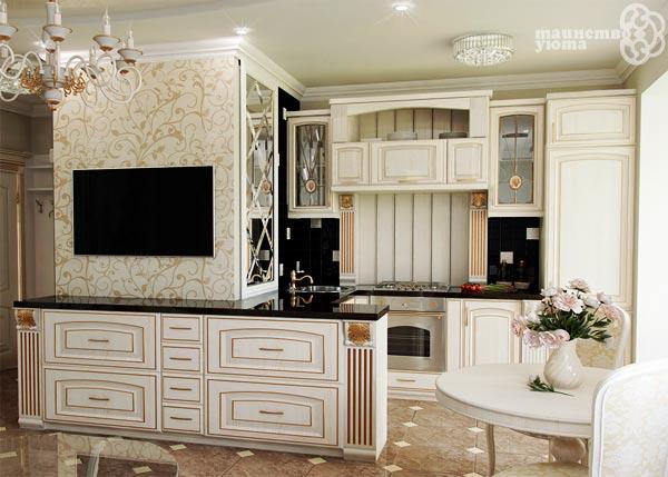 современная кухны с классическом стиле