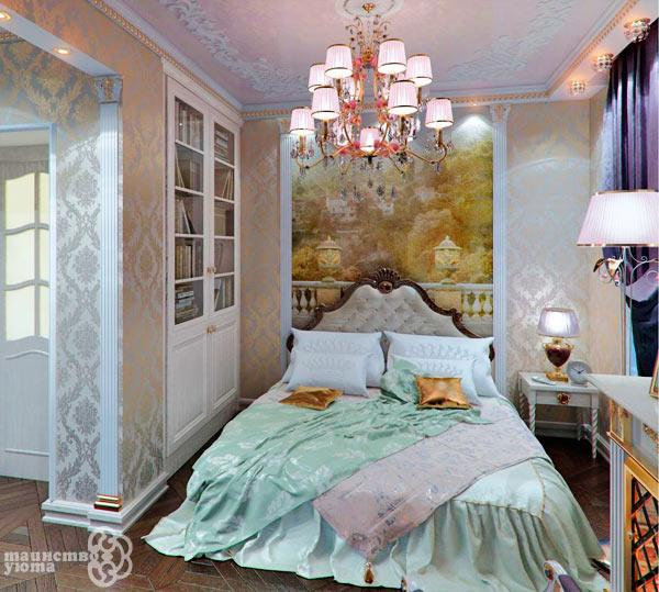 интерьер в стиле классика роспись на стене