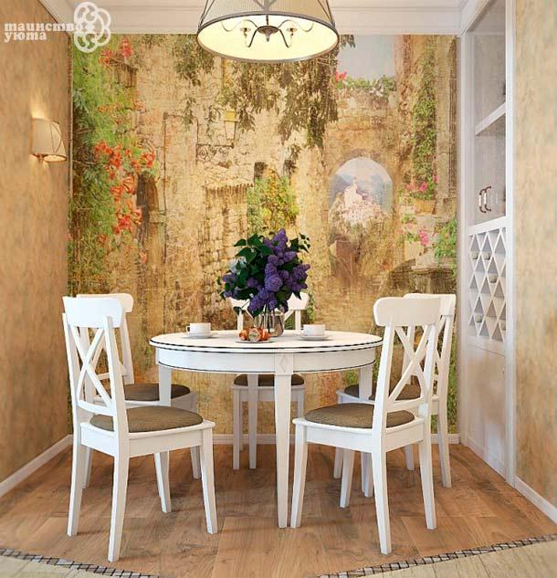 столовая в стиле прованс фото