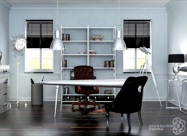 кабинет в стиле хай тек фото