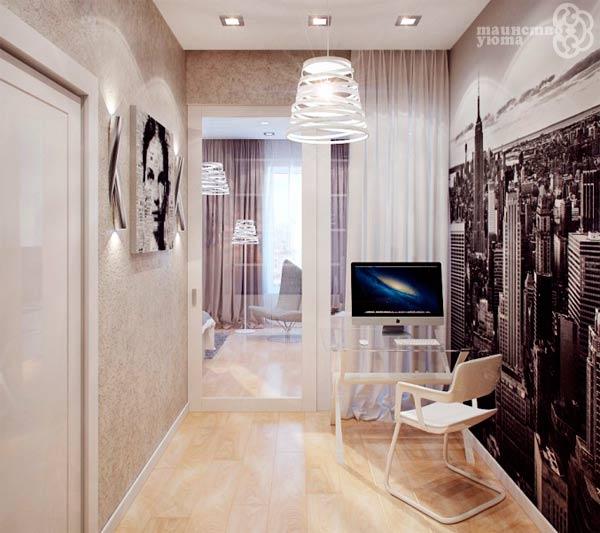 рабочий кабинет в коридоре фото