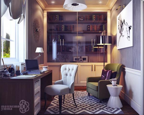 дизайн интерьера рабочего кабинета фото