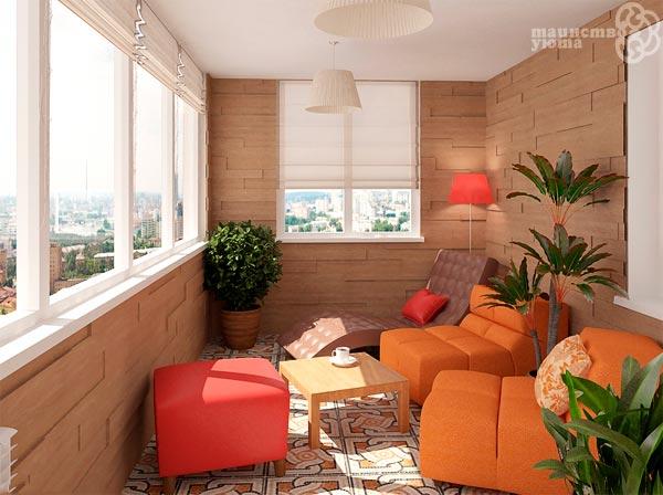 зона отдыха на балконе фото