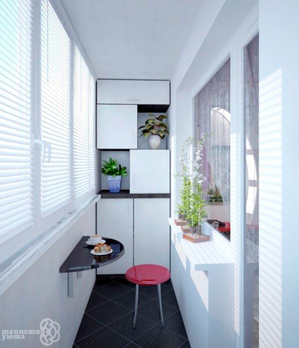 обеденная зона на балконе фото