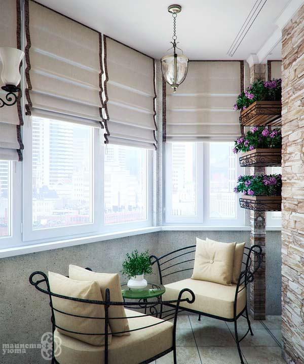 дизайн и отделка балконов фото