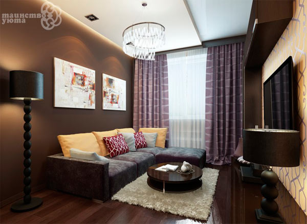 как оформлять стены в маленьких гостиных