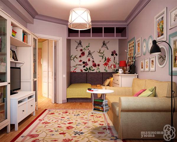 маленькая гостиная в стиле прованс