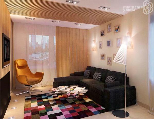 Идеи для интерьера маленткой гостиной