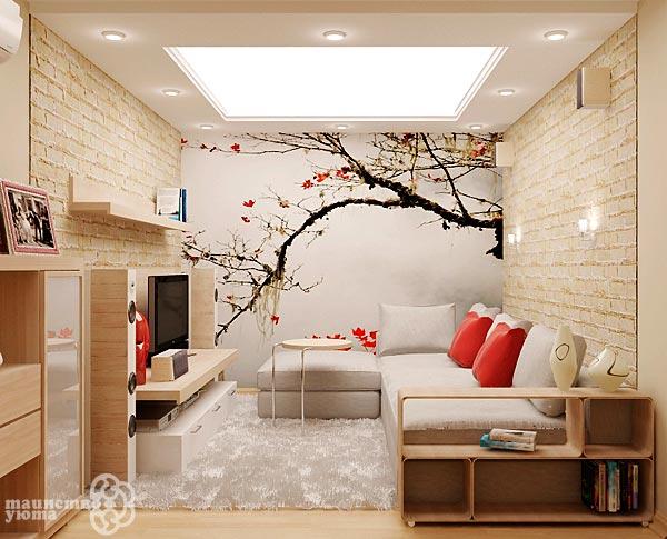 выбор цвета для маленькой гостиной